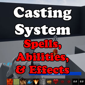 This ability casting system works for single player, coop, and dedicated games.